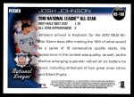 2010 Topps Update #160  Josh Johnson  Back Thumbnail