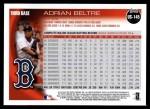 2010 Topps Update #145  Adrian Beltre  Back Thumbnail