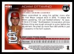 2010 Topps Update #6  Adam Ottavino  Back Thumbnail