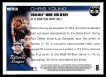 2010 Topps Update #38  Chris Young  Back Thumbnail