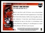 2010 Topps Update #63  David Ortiz  Back Thumbnail