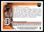 2010 Topps Update #120  Brennan Boesch  Back Thumbnail