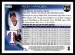 2010 Topps Update #81  Rich Harden  Back Thumbnail