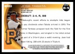 2010 Topps Update #76  Jose Tabata  Back Thumbnail