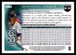 2010 Topps Update #138  Brandon League  Back Thumbnail