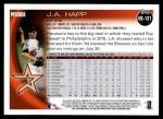 2010 Topps Update #121  J.A. Happ  Back Thumbnail