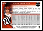2010 Topps Update #157  Jason Marquis  Back Thumbnail