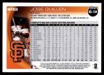 2010 Topps Update #154  Jose Guillen  Back Thumbnail