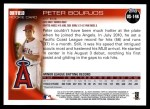 2010 Topps Update #146  Peter Bourjos  Back Thumbnail