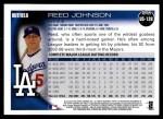 2010 Topps Update #128  Reed Johnson  Back Thumbnail