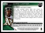 2010 Topps Update #102  Chris Carter  Back Thumbnail