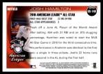 2010 Topps Update #140  Josh Hamilton  Back Thumbnail