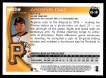 2010 Topps Update #147  Argenis Diaz  Back Thumbnail