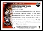 2010 Topps Update #108  John Buck  Back Thumbnail