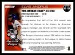 2010 Topps Update #126  Elvis Andrus  Back Thumbnail