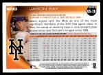 2010 Topps Update #20  Jason Bay  Back Thumbnail