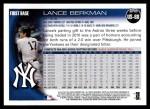 2010 Topps Update #88  Lance Berkman  Back Thumbnail
