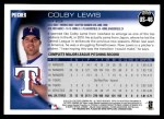 2010 Topps Update #46  Colby Lewis  Back Thumbnail