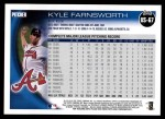 2010 Topps Update #67  Kyle Farnsworth  Back Thumbnail