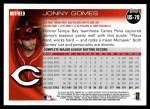 2010 Topps Update #79  Jonny Gomes  Back Thumbnail