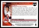 2010 Topps Update #89  Frank Herrmann  Back Thumbnail