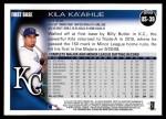 2010 Topps Update #39  Kila Ka'aihue  Back Thumbnail
