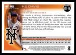 2010 Topps Update #15  Ike Davis  Back Thumbnail