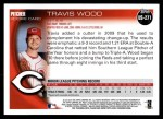 2010 Topps Update #271  Travis Wood   Back Thumbnail