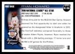 2010 Topps Update #265  Ryan Howard  Back Thumbnail