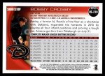 2010 Topps Update #219  Bobby Crosby  Back Thumbnail