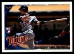 2010 Topps Update #191  Danny Valencia  Front Thumbnail