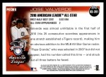 2010 Topps Update #281  Jose Valverde  Back Thumbnail