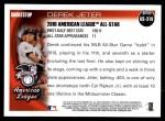 2010 Topps Update #310  Derek Jeter  Back Thumbnail