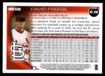 2010 Topps Update #298  David Freese  Back Thumbnail