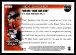 2010 Topps Update #247  Nick Swisher  Back Thumbnail