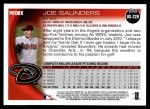 2010 Topps Update #229  Joe Saunders  Back Thumbnail