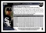 2010 Topps Update #315  Edwin Jackson  Back Thumbnail