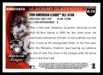 2010 Topps Update #270  Vladimir Guerrero  Back Thumbnail