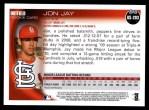 2010 Topps Update #203  Jon Jay  Back Thumbnail