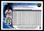 2010 Topps Update #231  Gabe Kapler  Back Thumbnail