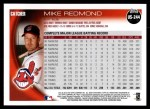 2010 Topps Update #244  Mike Redmond  Back Thumbnail