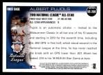 2010 Topps Update #200  Albert Pujols  Back Thumbnail