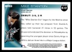 2010 Topps Update #327  Giancarlo Stanton  Back Thumbnail
