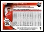 2010 Topps Update #278  Brad Penny  Back Thumbnail