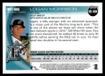 2010 Topps Update #268  Logan Morrison  Back Thumbnail
