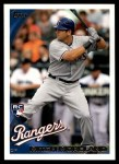2010 Topps Update #202  Mitch Moreland  Front Thumbnail