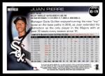 2010 Topps Update #179  Juan Pierre  Back Thumbnail