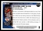 2010 Topps Update #303  Brandon Phillips  Back Thumbnail