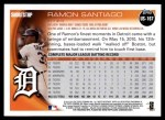 2010 Topps Update #167  Ramon Santiago  Back Thumbnail