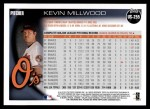 2010 Topps Update #255  Kevin Millwood  Back Thumbnail